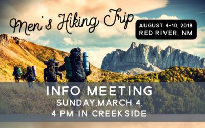 Men's Hiking Trip